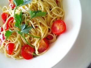 Mediterranean diet pasta dish