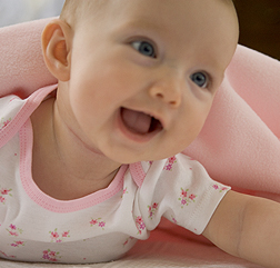 Happy, smiley, baby portrait